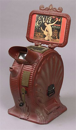 Mutoscope eva - early peepshow machines from late1800s-early 1900s
